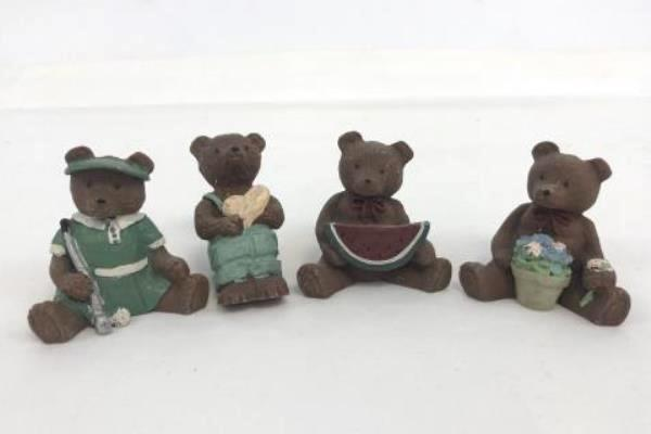 Lot of 10 Annie and Jack Collectible Bears Vintage Pre-Owned