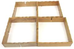 "Set of 2 Unbranded Decorative Hanging Wood Box Shelves 13.25"" x 13.25"""