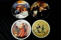 Lot of 4 Vintage 1980s Norman Rockwell Knowles Collector Plates