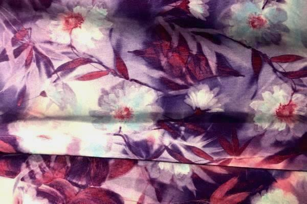 Women's Purple Multicolored Skirt By Up Front Size M 100% Polyester