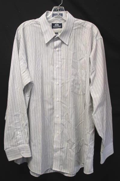 Men's Black And White Button Down Dress Shirt By Stafford Size 17.5/ 35