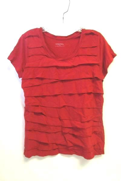 Women's Red Top By Merona Size L/G 60 % Cotton