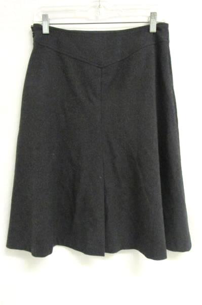 Women's Heather Grey Pleated Skirt By George Size 4