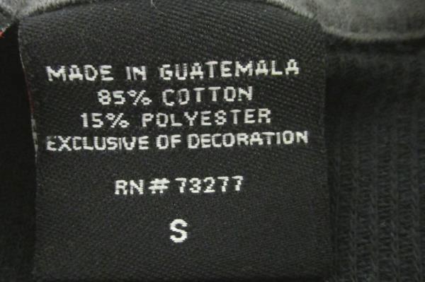 Long Sleeve Shirt Tony Hawk Black 85% Cotton 15% Polyester Men's Size S