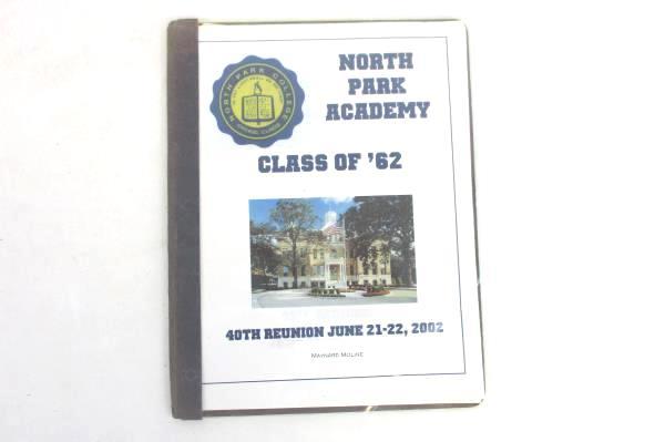 Lot of 2 North Park College Memorabilia - 1936 Photo + 2002 40th Reunion Booklet