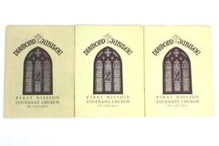 Lot of 3 Diamond Jubilee 75th Anniversary Dedication Book First Mission Covenant