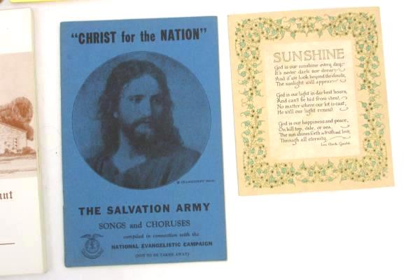Lot of 11 Church Songbooks Yearbooks Programs & Pamphlets