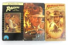 Lot of 3 VHS Tapes Indiana Jones Raiders + Temple of Doom + Last Crusade