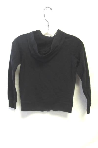 Girl's Black Jacket W/ Heart Decal By DanSkin Now Size M 60% Cotton
