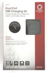 Power Gear Dual Port USB Charging Kit 2.1 Amp - 20135 NIB