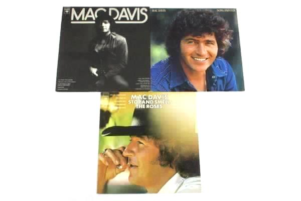 Lot of 3 Mac Davis Records - Self Titled + Song Painter + Stop & Smell The Roses