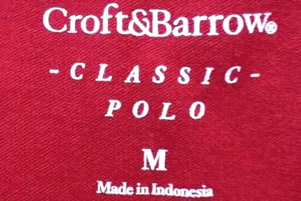 Men's Red Polo Shirt By Croft&Barrow Size M