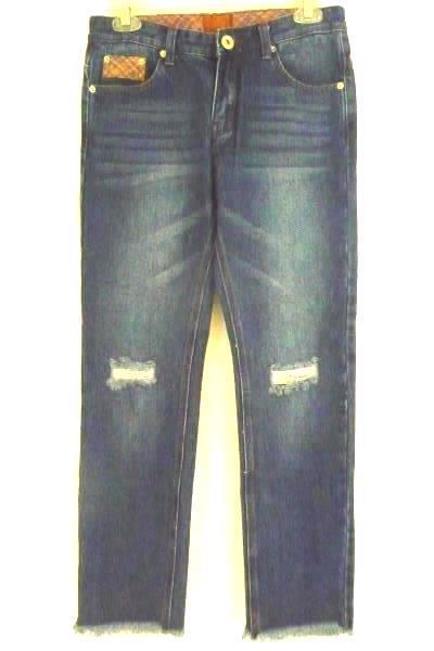 POL Women's Med Wash Denim Distressed Jeans Size S