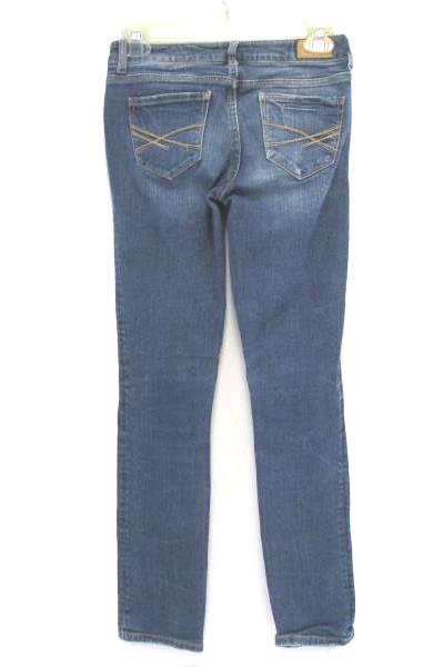 Aeropostale Distressed Denim Medium Wash Skinny Jeans Low Rise Womens 00 Short