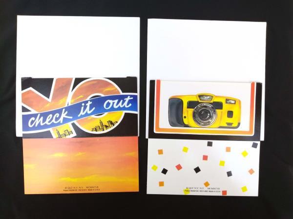 Set of 2 Pop Up Greeting Cards Vintage Photo Frame 1997 QLT