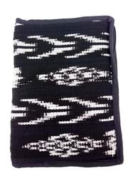"Black Ikat Zippered Bible Cover 10"" X 7.5"" Guatemalan Artisan Hand Woven NEW"