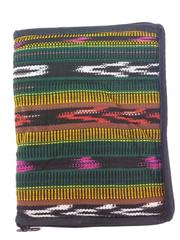 "New Green / Brown Zippered Bible Cover 10"" X 7.5"" Guatemalan Artisan Hand Woven"