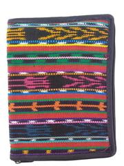 "NEW Multicolor Tribal Zippered Bible Cover 10"" X 7.5"" Guatemalan Hand Woven"