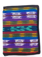 "NEW Purple Tribal Zippered Bible Cover 10"" X 7.5"" Guatemalan Artisan Hand Woven"