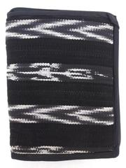 "NEW Black / White Tribal Stripe Zipped Bible Cover 9"" X 7"" Guatemalan Hand Woven"