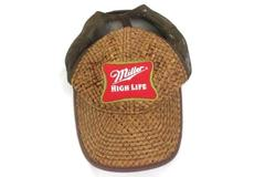 Vintage 2003 Brown Miller High Life Adjustable Size Cap By Bio Dome