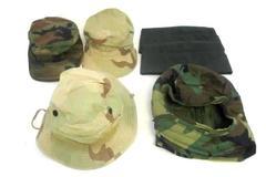 Lot 6 Vtg US Military Caps Sz 7 Hot Weather Combat Garrison Boonie Helmet Liner