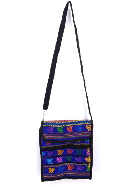 Medium 5pc Lot Tribal Guatemalan Hand Woven Mochila Crossbody Bags NEW