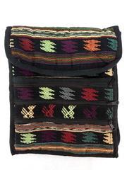 NEW Black Guatemalan Hand Woven Mochila Crossbody Bag Med CONCERNED CRAFTS