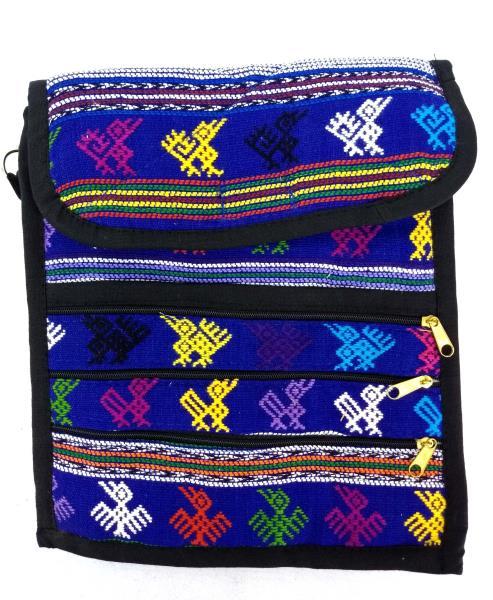 5pc Lot Medium Guatemalan Hand Woven Mochila Crossbody Travel Bags NEW
