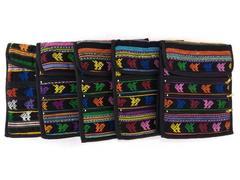 NEW Guatemalan Hand Woven Mochila Crossbody Travel Bags 5pc Lot Medium