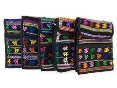 NEW 5pc Lot Medium Black Guatemalan Hand Woven Tribal Mochila Crossbody Bags