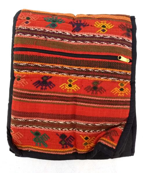 NEW Red Guatemalan Hand Woven Mochila Crossbody Bag Medium CONCERNED CRAFTS