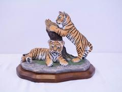 Lenox INDIAN BENGAL TIGER CUBS Figurine Wildlife Collection Lynn Chase Numbered