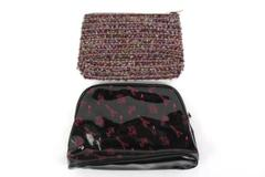 Lot of Two Lancome Cosmetic Bags Eiffel Tower And Knit Shell