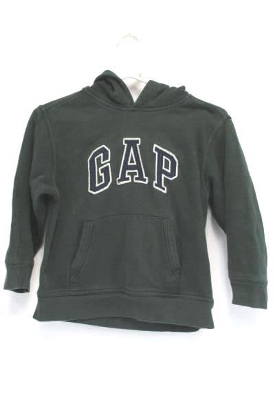 Gap Kids Hoodie Sweatshirt Pullover Kangaroo Pocket Boys Small Green Arch Logo