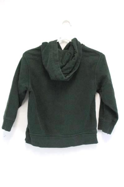 Gap Kids Hoodie Sweatshirt Pullover Kangaroo Pocket Boys Small Green Arch Logo