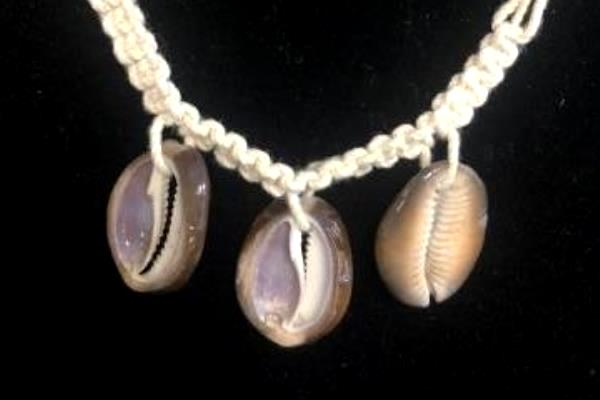 Set of 2 Macrame Beach Shell Bracelets Anklets Made In Philippines