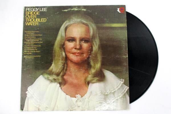 "Peggy Lee ""Bridge Over Troubled Water"" 1970 12"" Vinyl 33 RPM LP Records Jazz"