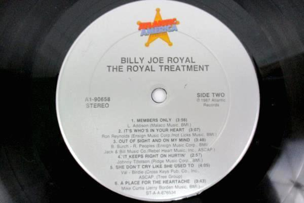 "Billy Joe Royal  ""The Royal Treatment"" 1987 12"" Vinyl 33 RPM LP Records Country"