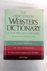 The New Lexicon Webster's Dictionary Deluxe Encyclopedic American Language 1987