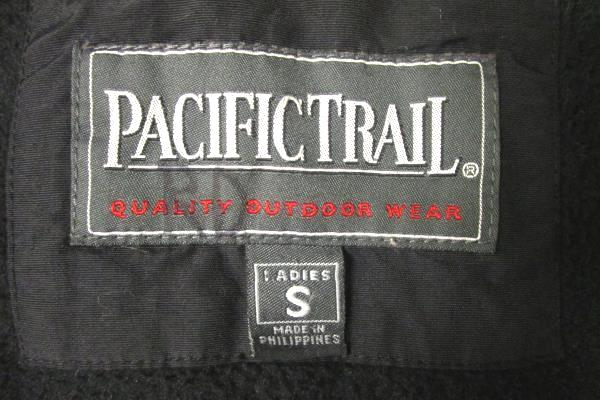 Women's Red Black Coat By Pacific Trail Size S 100% Nylon, 100% Polyester.