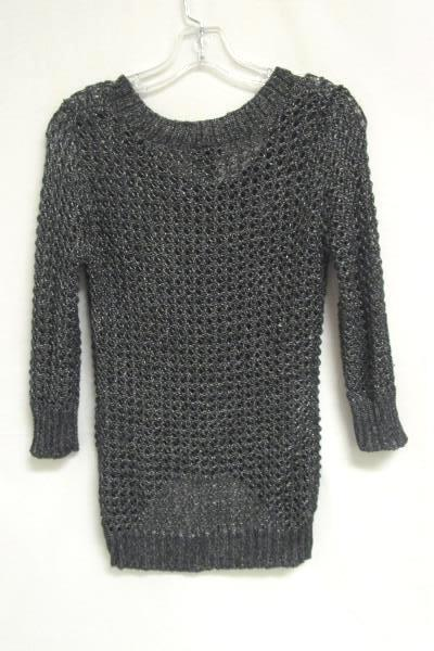 Women's Silver Metallic Gray Sweater Top By Rue21 Size M