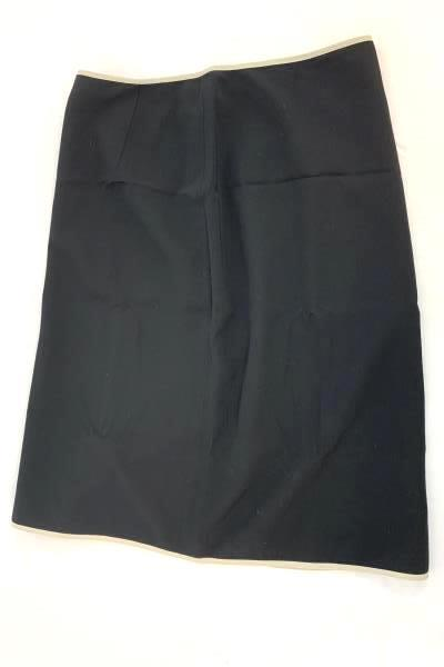 BANANA REPUBLIC Women's Black W/ Tan Trim Lined Career Pencil Skirt Size 2