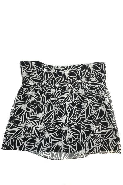 Ann Taylor LOFT Women's Halter Black & White Floral Summer Top Size 6