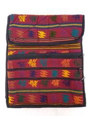 NEW  Burgundy Red Tribal Guatemalan Hand Woven Boho Mochila Large Crossbody Bag