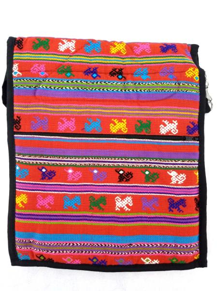 Guatemalan Hand Woven Mochila Crossbody Bag Large CONCERNED CRAFTS NOS Red #B