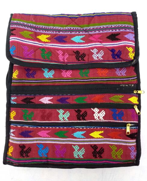 NEW Burgundy Red 90's Guatemalan Hand Woven Boho Mochila Crossbody Bag LARGE