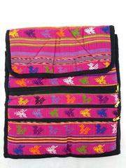 NEW Tribal Guatemalan Hand Woven Boho Mochila Crossbody Bag Large in Hot Pink
