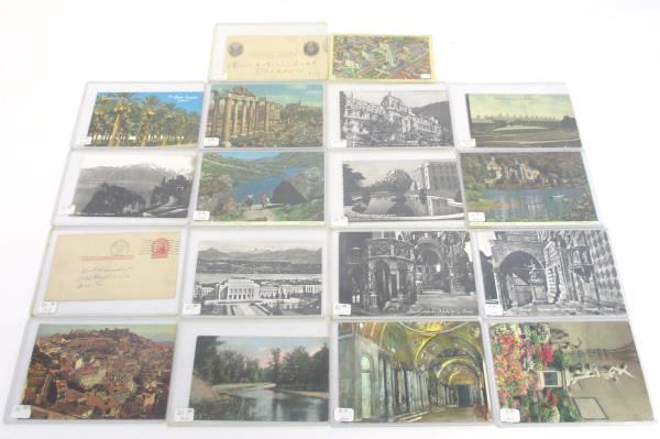 Lot of 18 Vintage Postcards - US, Italy, Ireland, Switzerland, Portugal