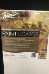 "Fredrix White Art Canvas Painting Board 20"" X 20"""